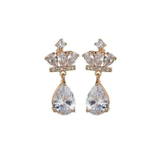 Fashion Trendy Stud Earrings Simple Korean-Style All-match Ear Stud 925 Sterling Silver Ear Pin Crown Earrings Qxwe835