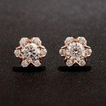 Snowflake Classic  Stud Earrings Silver Needle Zircon Earrings Jewelry Qxwe707