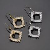Zircon Earrings Fashion Korean-Style Large Earrings AAA Zircon Inlaid 925 Sterling Silver Pin Gold-Plated Stud Earrings Qxwe1354