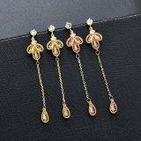 Earrings Women's S925 Sterling Silver Pin Stylish Long Tassel Stud Earrings Korean-Style All-match Earrings Jewelry Qxwe1255