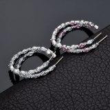 Korean Style Earrings Elegant Trendy Cool Big Ear Ring AAA Zircon Inlaid Stud Earrings 925 Sterling Silver Ear Pin Qxwe1253