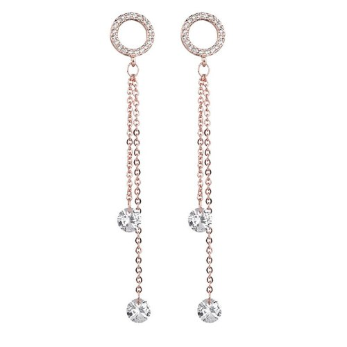 New Korean Style Cool Earrings 925 Sterling Silver Ear Pin Tassels AAA Zircon Stud Earrings Qxwe1148