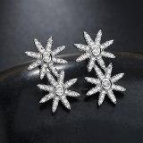 Double Star Stud Earrings Korean-Style Classic Fashion Star 925 Sterling Silver Needle Stud Earrings Female Earrings Qxwe1070