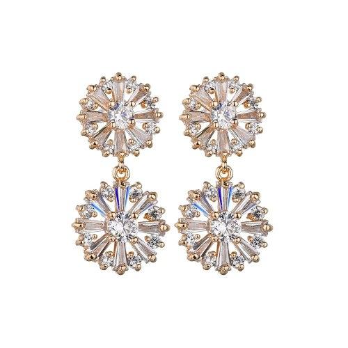 S925 Sterling Silver Stud Earrings AAA Zircon Inlaid Gorgeous Long Ear Stud Earrings Qxwe1293