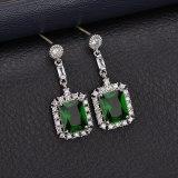 Korean Fashion Stud Earrings Exaggerated Zircon Earrings Long Elegant Ear Pendant Sterling Silver Earrings Jewelry Qxwe804