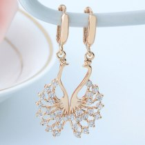 Elegant Earrings AAA Zircon Inlaid Ear Stud Creative Cartoon Jewelry Qxwe645