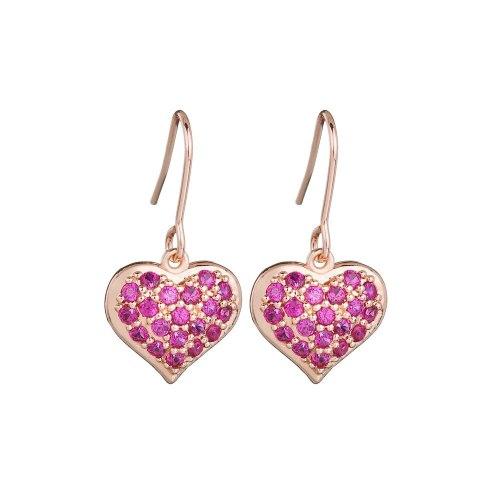Korean-Style Zircon Inlaid Earrings 925 Sterling Silver Needle Ear Stud Earrings Lovely Ear Pendant Qxwe950