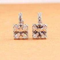 Square Classic Hollow Zircon Earrings Ear Clip Versatile Zircon Earrings Ornament Qxwe797