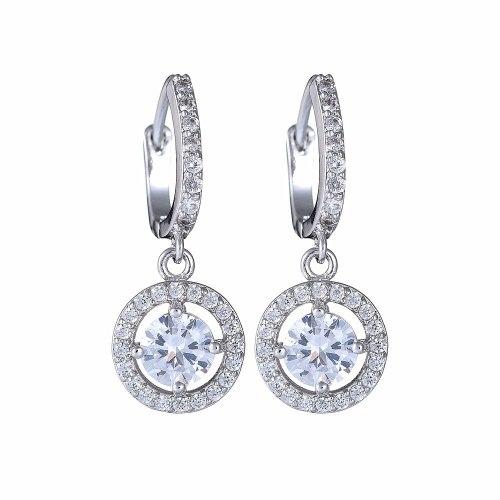 Disc Earrings AAA Zircon Inlaid Ear Clip Ear Pendant All-match Fashion Jewelry Qxwe1057