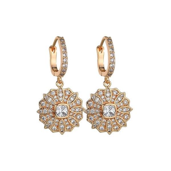 AAA Zircon Korean-Style Cool Earrings Zircon Ear Clip Women's Accessories Qxwe1075