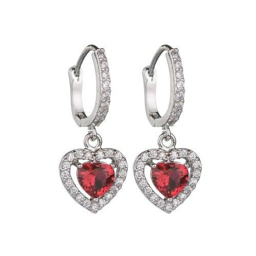 Lovely Crystal Zircon Diamond Earrings Ear Stud Fashion Jewelry Qxwe891