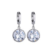 Earrings Olive Green Zircon Ear Stud Platinum Electroplated All-match  Stud Earrings Qxew177