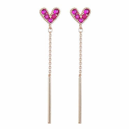 Korean Style Fashionable Zircon Earrings 925 Silver Pin Ear Stud Earrings Student All-match Small Earrings Jewelry Qxwe661