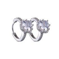 Lovely Stud Earrings AAA Zircon Inlaid Ear Clip Hollow-out Multi-Layer Earrings Jewelry Qxwe819