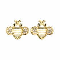 Galaxian Stud Earrings Korean Fashion AAA Zircon Creative Simple Earrings Silver Needle Girl Accessories Qxwe1172
