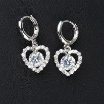 Lovely Earrings  AAA Inlaid Zircon Ear Clip Stud Earrings European and American Earrings Qxwe194
