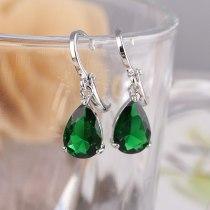 Drop Crystal Zircon Inlaid Earrings Elegant Ear Pendant White Simple Qxwe445