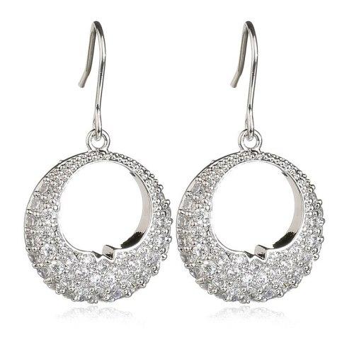 Moon Bay Earrings AAA Zircon Ear Stud Ornament Wholesale Earrings Qxwe812
