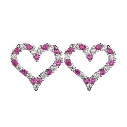 Korean Style Simple Cool Student Lovely Stud Earrings Zircon Sterling Silver Needle Earrings  Birthday Gift Qxt769362
