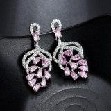 Rose European Fashion Gorgeous Earrings Multicolor Stud Earrings 925 Sterling Silver Needle Performance Accessories Qxwe1286