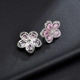 Natural Chrysanthemum Stud Earrings AAA Zircon Inlaid Three-dimensional Flower Earrings  Sterling Silver Ear Pin Qxwe0582