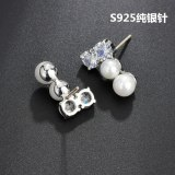 Stud Earrings High-End Exquisite Pearl AAA Zircon Earrings  S925 Sterling Silver Needle Earrings Qxwe764