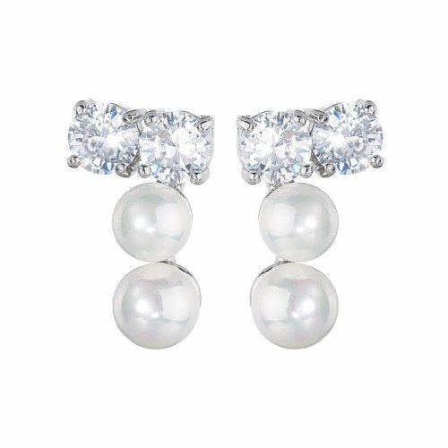 Stud Earrings High-End Exquisite Pearl AAA Zircon Earrings  S925 Sterling Silver Needle Earrings Qxwe764