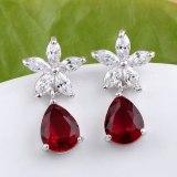 Korean-Style Drop Flower Stud Earrings Jewelry Fashion All-match AAA Zircon Accessories Qxwe551