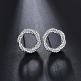 AAA Zircon Micro Pave Stud Earrings Linen Flower Color-Shaped Earrings  Korean-Style Fashion Fine Jewelry Qxwe108