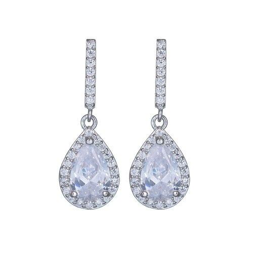 Drop Temperament Long Ear Stud Earrings Korean Style Quality Ear Pendant Copper Set AAA Zircon Earrings Jewelry Qxwe1058