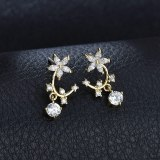 New Style Earrings Copper Inlaid AAA Zircon Earrings 925 Sterling Silver Ear Pin Fashion Stud Earrings Qxwe1282