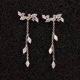 925 Sterling Silver Ear Pin Elegant Tassel Earrings Long Stud Earrings Female Japanese and Korean Earrings Qxwe978