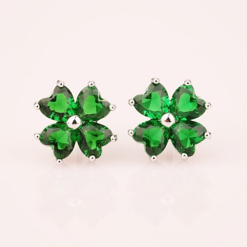 Zircon Earrings Lovely AAA Zircon Inlaid Earrings Fashion Ear Stud Earrings Qxwe534
