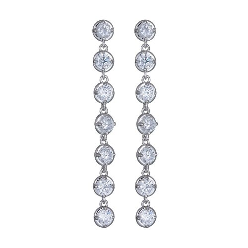 Zircon Crystal Earrings Korean-Style AAA Zircon Crystal Earrings Ear Pendant Retro Cool White Wholesale Qxwe933