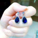 Korean-Style Earrings Copper Inlaid Drop AAA Zircon Stud Earrings Micro Pave Small Diamond All-match Jewelry Qxwe151