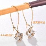 Magic Ball Zircon Earrings AAA Zircon Inlaid Korean Style Furry Ball Earrings 925 Sterling Silver Pin Stud Earrings Qxwe735