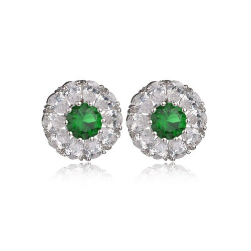 925 Sterling Silver Ear Pin Flower Drop Zircon Earrings Fashion Women's Stud Earrings Jewelry Qxwe880