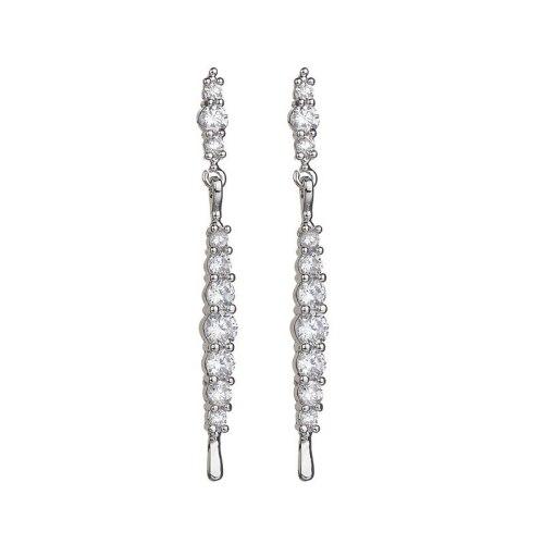 Zircon Earrings Stud Earrings S925 Sterling Silver Pin AAA Zircon Inlaid Ear Stud Korean Fashion Ear Pendant Qxwe959
