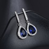Drop Temperament Long Ear Stud Earrings Korean Style Quality Ear Pendant Copper Set AAA Zircon Earrings Jewelry Qxwe1058