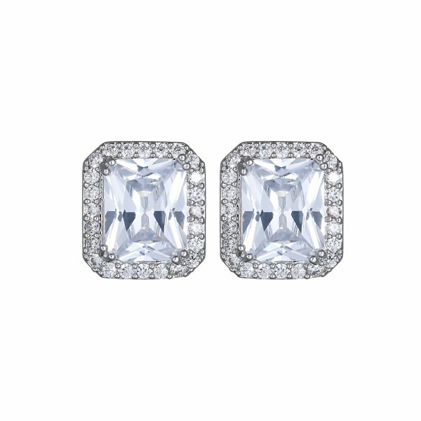 Korean-Style Stud Earrings S925 Silver Pin Earrings AAA Zircon Inlaid Earrings  Jewelry Qxwe674