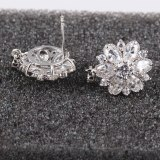 Dragon Flower AAA Zircon Earrings Exquisite Japanese and Korean Ear Stud Ear Pendant Female Gift Accessories Qxwe598