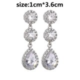 Copper Inlaid AAA Zircon Earrings European and American Quality Ear Stud Earrings  Dinner Wedding Accessories Qxwe1231