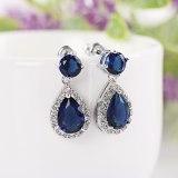 Korean Style Earrings AAA Drop Zircon Earrings Fashion Simple Ear Pendant Earrings Hot Selling Stud Earrings Qxwe836