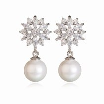 Taiyanghua AAA Zircon Earrings Pearl Earrings Women's Fashion Korean-Style Ear Pendant Earrings Qxwe725