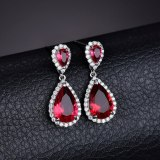 Rouge Stud Earrings Zircon Inlaid Dinner Earrings Korean Fashion Earrings Jewelry Qxwe714