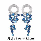 New Beautiful Garland Earrings Stud Earrings 925 Sterling Silver Pin AAA Zircon Inlaid Bright Shiny Fashion Fine Jewelry Qxwe144