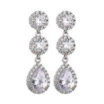 Copper Inlaid AAA Zircon Earrings European and American Quality Ear Stud Earrings  Dinner Wedding Accessories Qxwe1231
