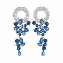 New Beautiful Garland Earrings Stud Earrings 925 Sterling Silver Pin AAA Zircon Inlaid Bright Shiny Fashion Fine Jewelry Qxwe144