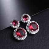 Stud Earrings Sterling Silver Ear Pin Copper Inlaid AAA Zircon Earrings Korean Fashion Earrings Jewelry Qxwe825