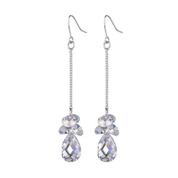 Tassel Stud Earrings Crystal Zircon Double Turtle Surface Drop Earrings Pendant Korean Fashion Earrings Jewelry Qxwe8